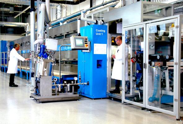 Seriennahe Beschichtungsanlage für Elektroden