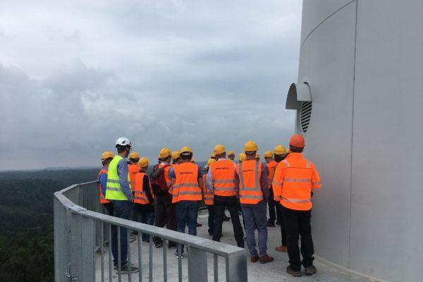 Windkraftanlage, Gaildorf, Besucher, BLWE