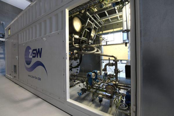 ZSW-Forschungs-Elektrolyseanlage