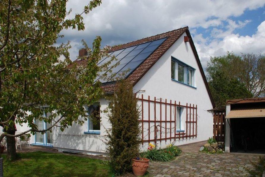 Solarthermieanlage, Haus, Dach