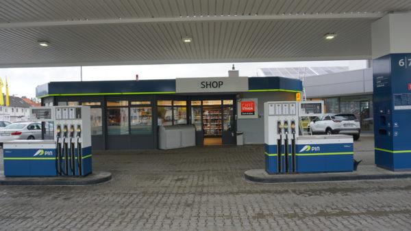 Tankstelle, Lauingen, Präg, Zaofsäulen