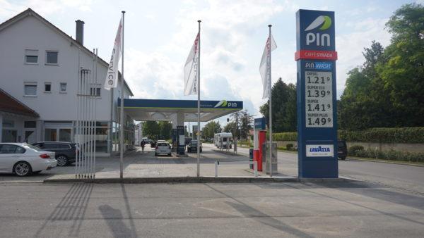 Tuerkheim, Tankstelle, Preismast