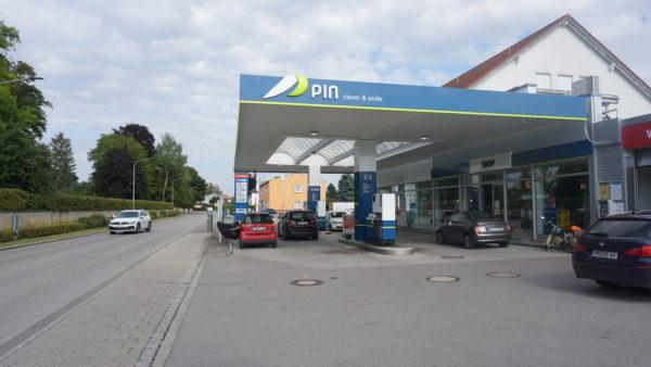 Tankstelle, Türkheim, Präg, Pin