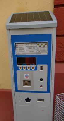 Parkautomat mit Photovoltaik-Paneel