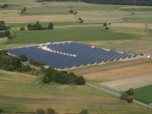 Solarpark, Felder, EnBW